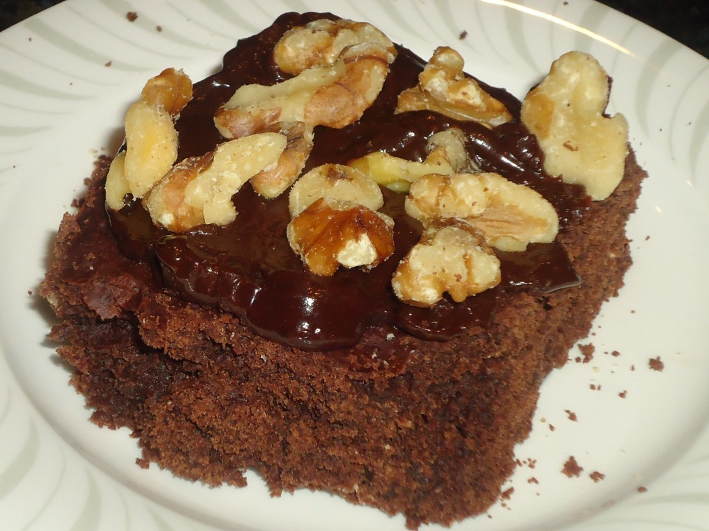 Brownie With Fudge And Walnuts